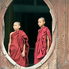Young Monks in a Temple Window