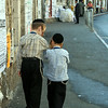 Ultra-Orthodox Jewish Boys Walking in Meah Shearim