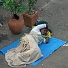 Sleeping Homeless Girl