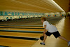 Jean Comeforo of Media lets go of the ball during the Delco Senior Games at Sproul Lanes in Springfield.