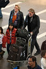 Johnny Hallyday and family come back to Paris