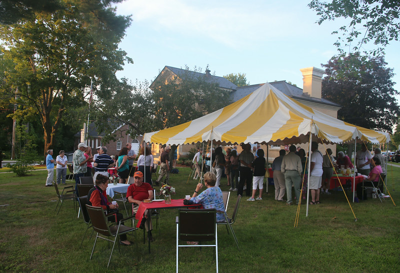 Littleton holds a Peach Social at the Historical Society as part of the town's 300th anniversary celebration. (SUN/Julia Malakie)