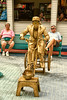 Gold Man on Bicycle at Fort Myers Beach, Florida
