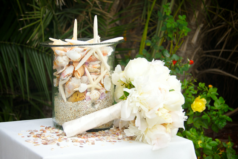Seashells and Wedding Bouquet