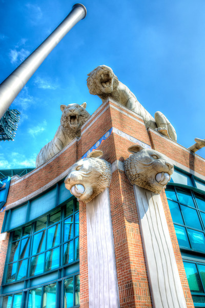 Comerica Park Just Before Opening Day 2014.  This is one of the first HDR photos I shot after watching Trey Ratcliff's Tutorials.  I think it turned out amazing for being shot without a tripod!