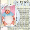 I think this might have just become one of my new favorites. <br /> There is a challenge at Sweet Shoppe Designs to do a layout about the truth. Pic was taken in Korea 10 days before we brought him home... <br /> *******************************<br /> Be My Baby Title Template is Robin Carlton<br /> Foot print and beaded string is Robin Carlton & Christy Lyle ABC Baby Kit<br /> All other papers/elements are Holly McCaig Baby Mine Boy<br /> Fonts are Century Gothic for Journaling & Highland Park for dates.