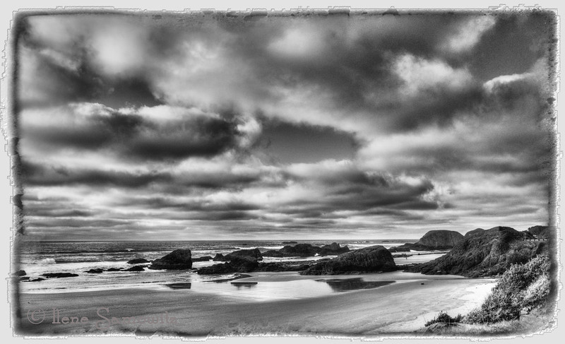 3-12-13 Seal Rock Seascape in Black and White