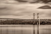 5-11-13 The Tacoma Narrows Bridge long exposure (93 sec).  I converted this and toned this image to be sepia.  Thanks for making my Cape Blanco image number one