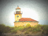 Coquille Lighthouse with texture and Topaz Simplify.