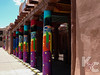 Pillars Outside Museum of Contemporary Native Arts in Santa Fe Plaza