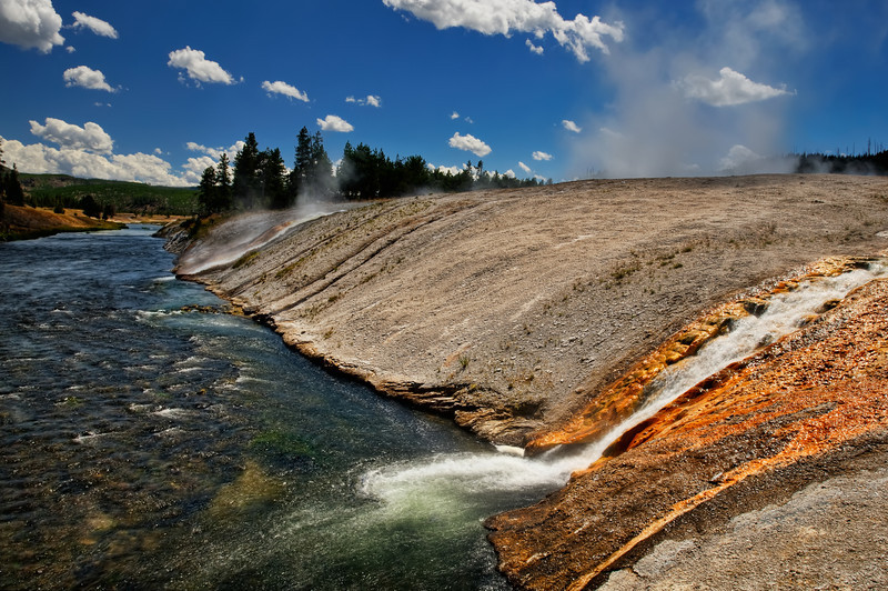 Firehole Riverside at Excelsior Geyser