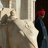 Kings Palace gaurd with red turban