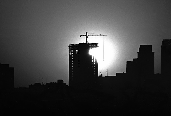 1960 CO Early morning Downtown Denver construction
