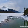 Ice Locked Maligne Lake 2