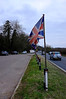 4 Apr 13 – Flag on layby, Croxton.