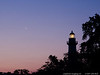 "27Apr14  moonrise lighthouse, st simons island, ga.  (waning, crescent 6%, 2 days before southern hemisphere solar eclipse)  <a href=""http://carpelumen.smugmug.com/Photography/2013/April13/28693682_r4GKQB#!i=2479839889&k=LxbgWBV"">one year ago.</a>  f/8, 1/40s, iso 640."