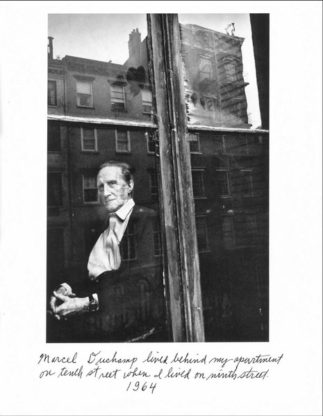 A Duane Michaels portrait of Marcel Duchamp. I'd put one of his cool multiple exposures here, but they are mostly nudes.