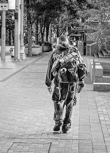 0819 The Wanderer<br /> <br /> Lots of people visit Portland during the summer months, many of them just passing through.