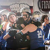 0128 Tangled Up in Blue<br /> <br /> Coach Effy is mobbed by her team after a come from behind win.