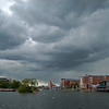 23.05.13 - Under Dark Skies  Threatening clouds over Brayford Pool yesterday