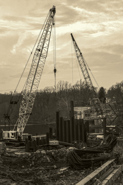 COnstruction of the new reservoir bridge