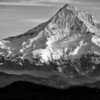 Mt Hood looking aggressive on The West Face