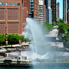 Fountain at Navy Pier in Chicago
