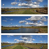 09.03.15 - Big Sky Country<br /> <br /> Yesterday was grey and miserable and my camera never even came out of it's case, so I'm sharing these from last week. All the images here are 2 shot photomerge panoramas, they were taken within about a quarter of a mile of each other along the river, and I created the collage last night.