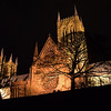 18.03.14 - From Below<br /> <br /> This is an unusual view of Lincoln Cathedral from my guided photo walk last night, looking up from the grounds of the old Bishop's Palace. Once the trees are in leaf much of this view will disappear