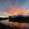16.03.14 - A River Runs Through It  This is a 3 shot photomerge panorama of a beautiful big sunset down by the river last night. Water adds a whole extra dimension to sunset photos so I'm glad I took the last minute decision to walk the dog by the river instead of up the hill!