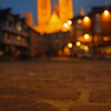 16.09.14 - Focus<br /> <br /> This is from my guided photo walk round the old part of Lincoln last night. It was a beautiful warm late summer evening without a cloud in the sky. The lack of cloud meant no sunset to speak of, but the light was wonderful and we played around with diferent ways to shoot sights that have been photographed millions of times before. This is Lincoln Cathedral from Castle Square as you've never seen it before. Depth of field and point of focus is a fascinating subject, it can drastically change the scene and create some stunning effects very easily. One day I want to try this with small model figures in the foreground, I think that would be cool :)