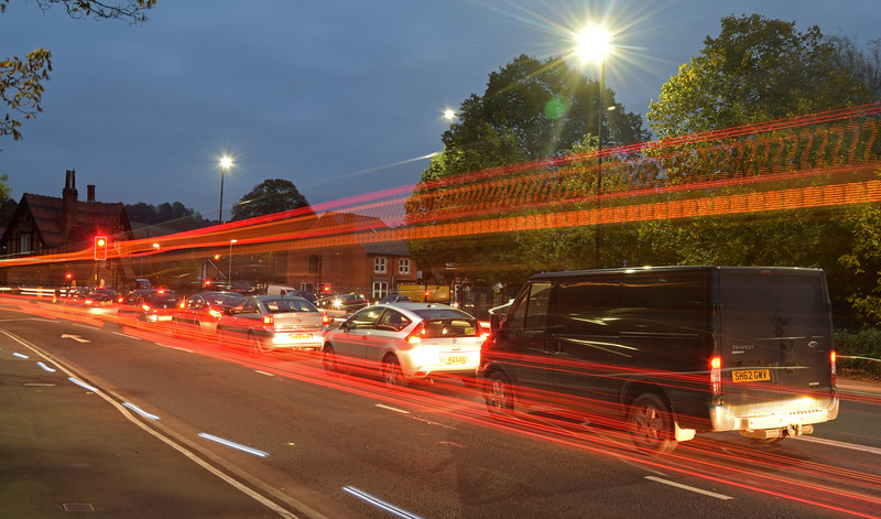 22.10.14 - Traffic Flow<br /> <br /> Not the most interesting place for light streak photos but this is all I took yesterday while waiting for a friend