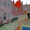 """26.03.14 - The Glory Hole (watercolour)<br /> <br /> This is a famous sight in Lincoln, the """"Glory Hole"""" is the oldest bridge in Britain that still has buildings and traffic going across it. I have given this image my """"watercolour"""" treatment, which is basically a manipulation of shadows, highlights and contrast in photoshop"""