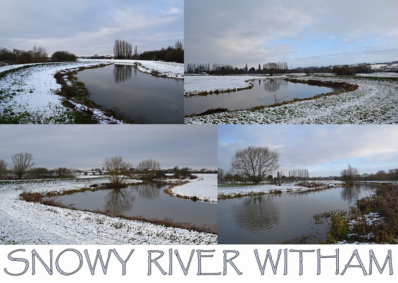 27.12.14 - Snowy River<br /> <br /> What a difference a smattering of overnight snow makes! This is the first snow to fall on Lincoln for almost 2 years so I couldn't wait to get out in it with the camera.