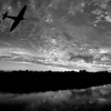 18.10.14 - Last of the Few<br /> <br /> This is a composite I did a few weeks ago of two Spitfires against a sunset panorama. Some of us are doing a black and white challenge on Facebook and this was my effort yesterday