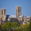 16.04.14 - Under the Big Blue<br /> <br /> I'm aware that parts of America are still getting snow after a very harsh winter, but here in the UK spring is well under way after the mildest winter most of us can remember. This is Lincoln Cathedral yesterday in beautiful light
