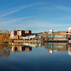 17.12. 13 - Big Blue<br /> <br /> This is a 2 shot photomerge panorama of Brayford Pool in the centre of Lincoln yesterday. As you can see it was a glorious day, albeit after a frosty start.