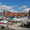 13.04.13 - Jolly Boating Weather..........<br /> <br /> This is a 3 shot photomerge panorama of the Brayford Pool Marina yesterday morning. For a few hours it was as though Spring had been bypassed and Summer had arrived, but the rain arrived later in the afternoon. This is almost a 180 degree view, with the University on the left and Cathedral on the hill right of centre.