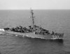 USS Rizzi (DE-537)<br /> <br /> Date: July 1957 <br /> (Not long before collision on July 28 with supertanker A.N. Kemp in Sandy Hook channel)<br /> Location: Unknown (environs of 3rd Naval District NY?)<br /> Source: Nobe Smith - Atlantic Fleet Sales