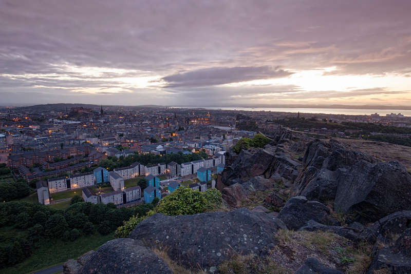 Sunset Overlooking Edinburgh From The Craggs