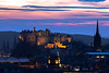 View Overlooking Edinburgh Castle at Twilight