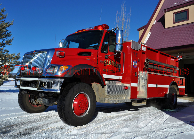 Pagosa Springs Fire Protection District's, Tender Truck 5 at Station One.