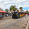 The Conch Train on Duval St. in Key West.