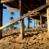 Under Balboa Pier at Newport Beach CA