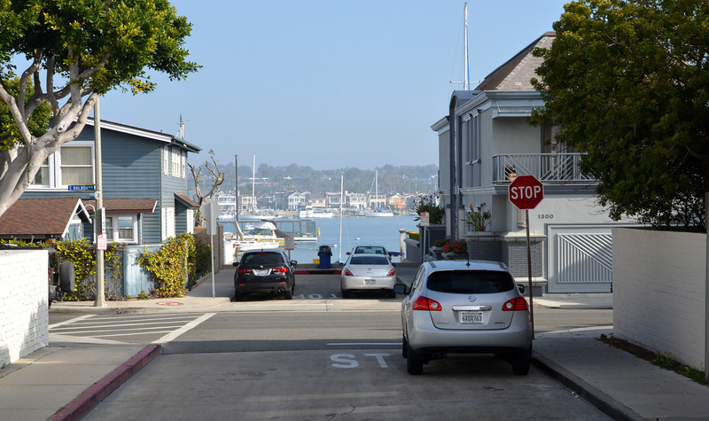 Typical Street in Newport Beach CA