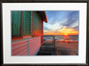 Days Cottage in a 23 x 31 black frame. Photo size 16 x 24 inches. UV plexiglass.