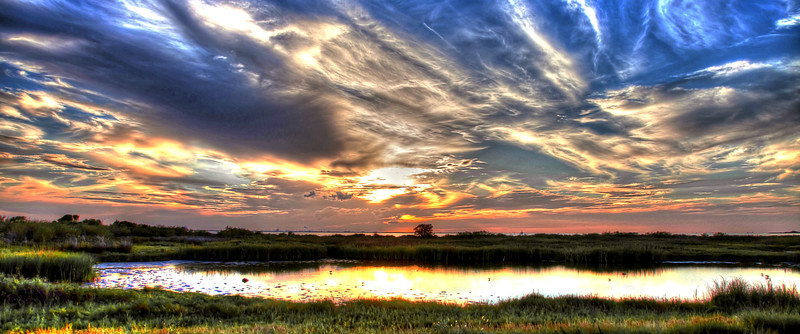 Galveston Bay Sunset 15x36