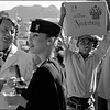 SOUTH AFRICA. Paarl. Whites enjoy a wine tasting in the Cape whilst coloured workers bring on fresh supplies. 1981.