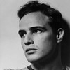 USA. New York City. 1950. Halsman's studio. American actor Marlon BRANDO.
