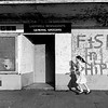 GB. ENGLAND. Salford. Fish and Chip shop on the Ladywell Housing Estate. 1986.
